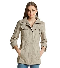 Jessica Simpson Cotton Anorak With Crochet Detail