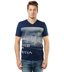 Buffalo by David Bitton Men's Short Sleeve Graphic V-Neck Tee