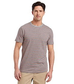 Le Tigre Men's Short Sleeve Feeder Stripe Crewneck Tee