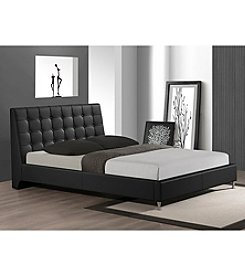 Baxton Studios Zeller Modern Queen Size Bed with Upholstered Headboard