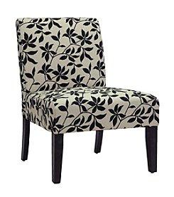 Baxton Studios Phaedra Leaf Silhouette Modern Slipper Chair
