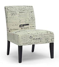 Baxton Studios Phaedra French Script Modern Slipper Chair
