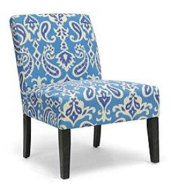 Baxton Studios Phaedra Paisley Ikat Modern Slipper Chair