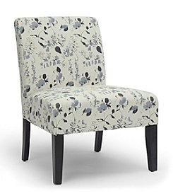 Baxton Studios Phaedra Floral Watercolor Modern Slipper Chair