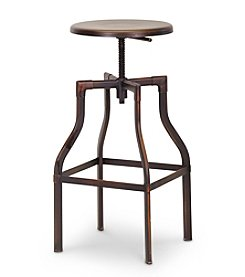Baxton Studios Architect's Industrial Bar Stool in Antiqued Copper