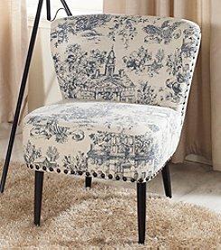 Baxton Studios Onassis Beige Linen Accent Chair