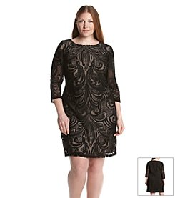 Julia Jordan® Plus Size Lace Jacquard Dress