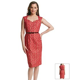 Kasper® Lace Sheath Dress