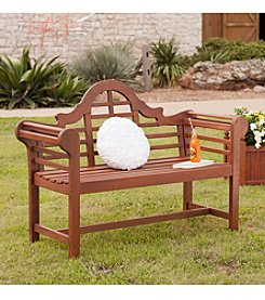 Southern Enterprises Natalia 4' Oiled Hardwood Bench