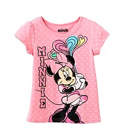 Nannette® Girls' 4-6X Minnie With Hearts Tee