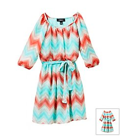 Amy Byer® Girls' 7-16 Chevron Print Dress