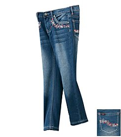 Lee® Girls' 2T-6X Embroidered Denim Bottoms