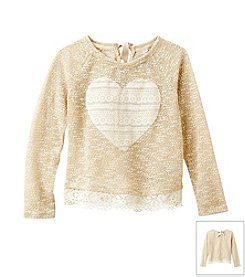 Beautees® Girls' 7-16 Knit Heart Sweater