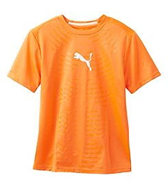 PUMA® Boys' 8-20 Short Sleeve Embossed Tee