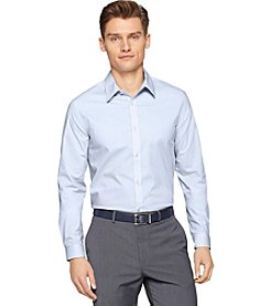 Calvin Klein Men's Long Sleeve Mini Check Poplin