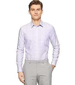 Calvin Klein Men's Check Dobby Long Sleeve Woven