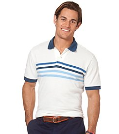 Chaps® Men's Short Sleeve Galleon Stripe Pique Polo