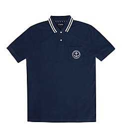 Chaps® Men's Short Sleeve Waterline Solid Pique Polo