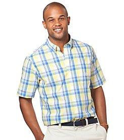 Chaps® Men's Short Sleeve Hilldale Plaid Woven