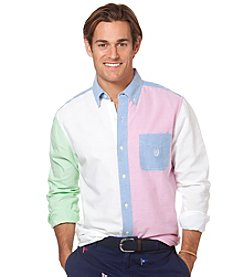Chaps® Men's Long Sleeve Colorblock Oxford Woven
