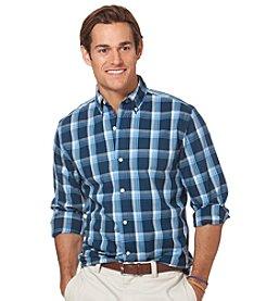 Chaps® Men's Logn Sleeve Bulkhead Check Woven