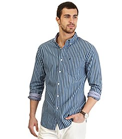 Nautica® Men's Long Sleeve Medium Stripe Woven