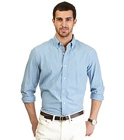 Nautica® Men's Long Sleeve Striped Poplin Woven Shirt