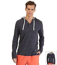 Nautica® Men's Long Sleeve Henley Hoodie