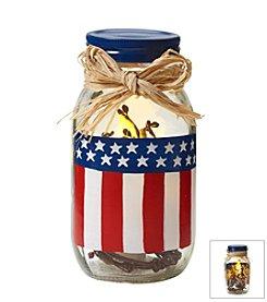 LivingQuarters Americana LED Candle Jar