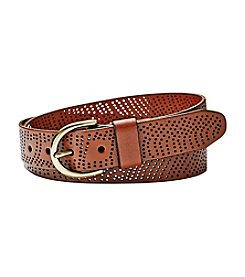 Fossil® Perforated Jeans Belt