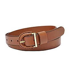 Fossil® Skinny Leather Belt