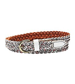 Fossil® Printed Braid Belt