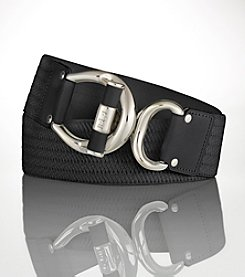 Lauren Ralph Lauren Ribbed Stretch Toggle Belt