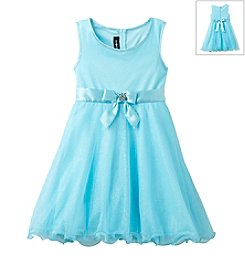 Amy Byer Girls' 4-6X Empire Dress With Sparkle Tulle