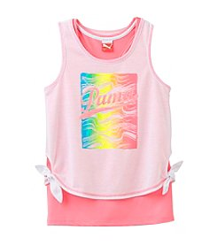 PUMA® Girls' 2T-16 Crop Tie Layered Tank