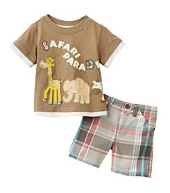 Nannette® Baby Boys' Safari Parade Shorts Set