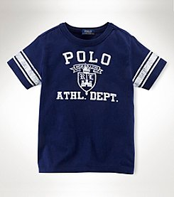 Ralph Lauren Childrenswear Boys' 2T-20 Short Sleeve Ringer Tee
