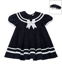 Rare Editions® Baby Girls' Nautical Dress With Hat