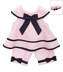 Rare Editions® Baby Girls' 2-Piece Nautical Capris Outfit Set