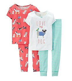 Carter's® Girls' 4-7 4-Piece Love My Dog Pajama Set