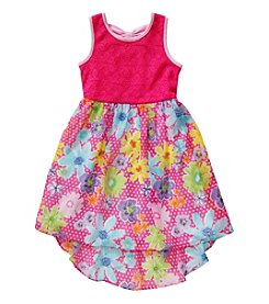 Sweet Heart Rose® Girls' 4-6X Floral Hi Low Dress