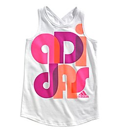 adidas® Girls' 2T-6X Criss Cross Tank