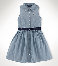 Ralph Lauren Childrenswear Girls' 2T-16 Multi Shirtdress