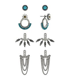 BCBGeneration™ Silvertone Boho Earrings Jacket Kit