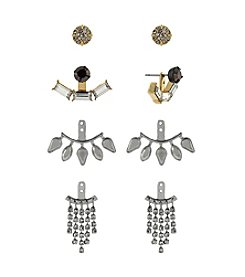 BCBGeneration™ Two Tone Stone Earrings Jacket Kit