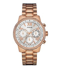 Guess Women's Rose Goldtone Feminine Classic Sport Watch