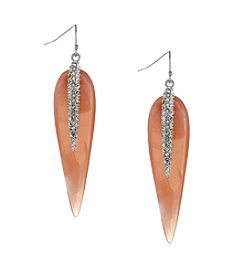 Vince Camuto™ Silvertone Resin Drop Earrings
