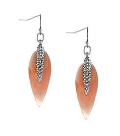 Vince Camuto™ Silvertone Teardrop Pave Spear Earrings