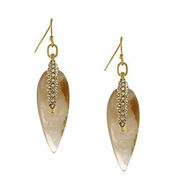 Vince Camuto™ Goldtone Teardrop Pave Spear Earrings