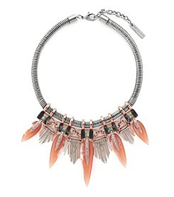 Vince Camuto™ Two-Tone Mixed Media Drama Necklace